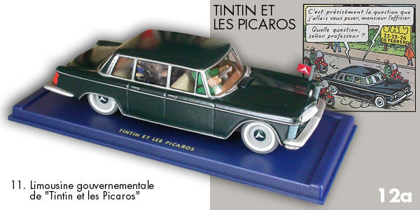 voiture tintin car atlas n 11 limousine gouvernementale tintin et les picaros ebay. Black Bedroom Furniture Sets. Home Design Ideas